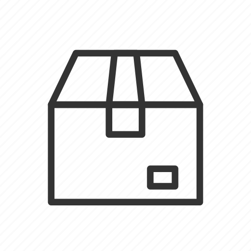 box, cardboard, cargo, delivery, minimalist, ui, ux icon