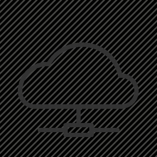 cloud, connection, internet, minimalist, network, ui, ux icon