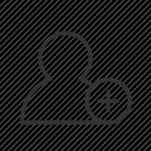 account, add, contact, minimalist, person, ui, ux icon