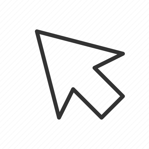 arrow, cursor, interface, minimalist, pointer, ui, ux icon