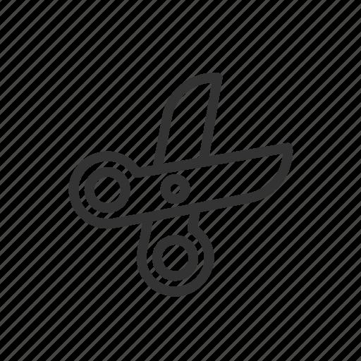 cut, edit, file, minimalist, scissor, ui, ux icon
