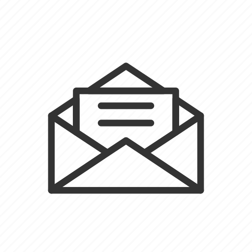 email, letter, mail, message, minimalist, ui, ux icon