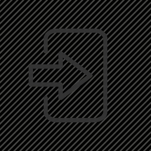 enter, in, log, minimalist, sign, ui, ux icon
