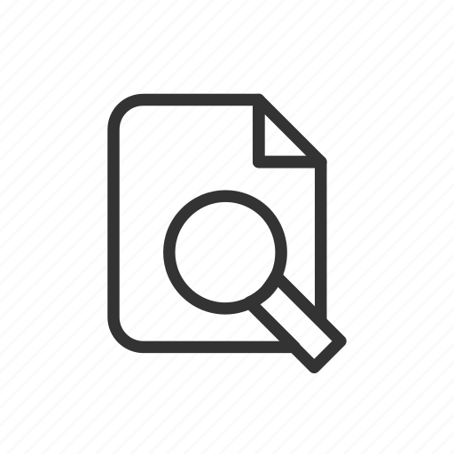 file, find, minimalist, search, ui, ux icon