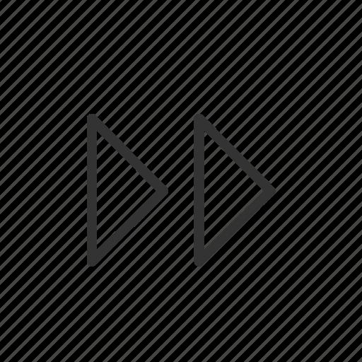 fast, forward, minimalist, music, ui, ux, video icon