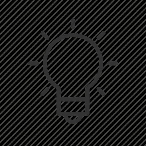 hint, idea, innovation, minimalist, notification, ui, ux icon