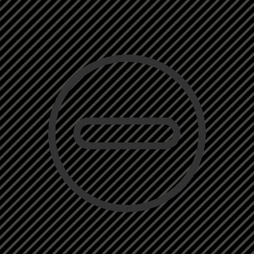 decrease, less, minimalist, stop, ui, ux, warning icon