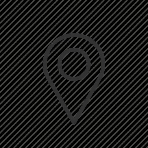 location, map, mark, minimalist, pin, ui, ux icon
