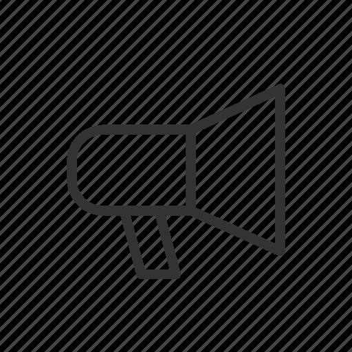 megaphone, minimalist, notif, sound, ui, ux, voice icon