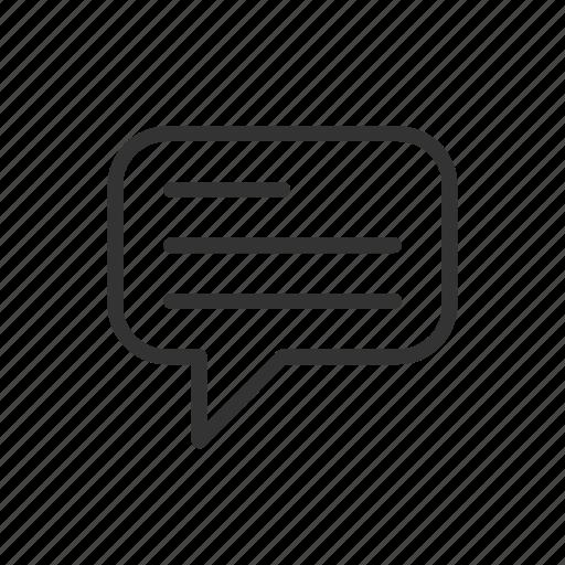 bubble, chat, message, minimalist, speech, ui, ux icon
