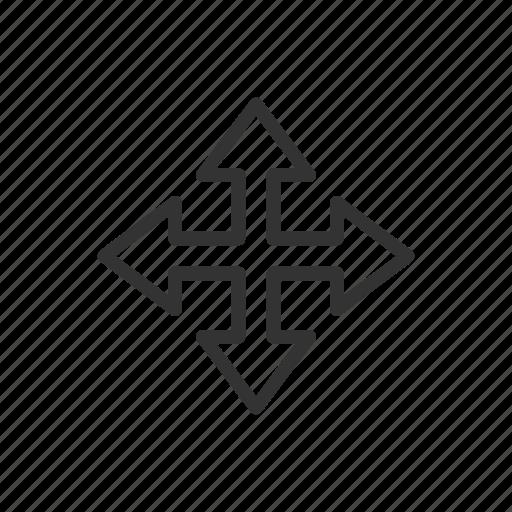 arrow, direct, grab, minimalist, move, ui, ux icon