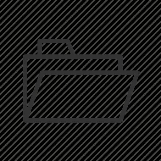 document, folder, minimalist, open, save, ui, ux icon