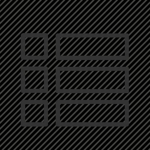 interface, layout, list, minimalist, page, ui, ux icon