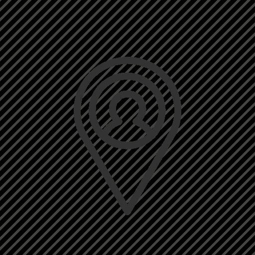 location, mark, minimalist, people, search, ui, ux icon