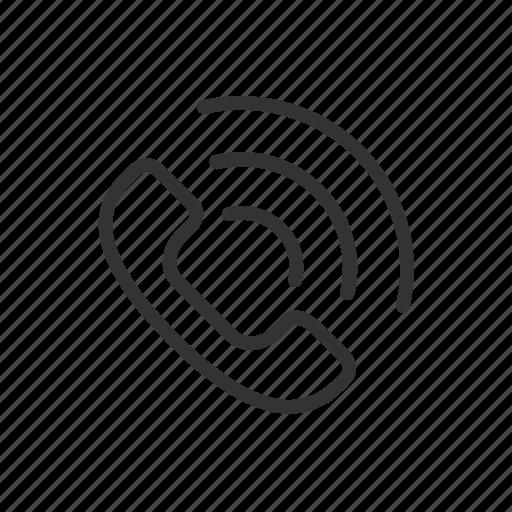 call, minimalist, phone, phone call, signal, ui, ux icon