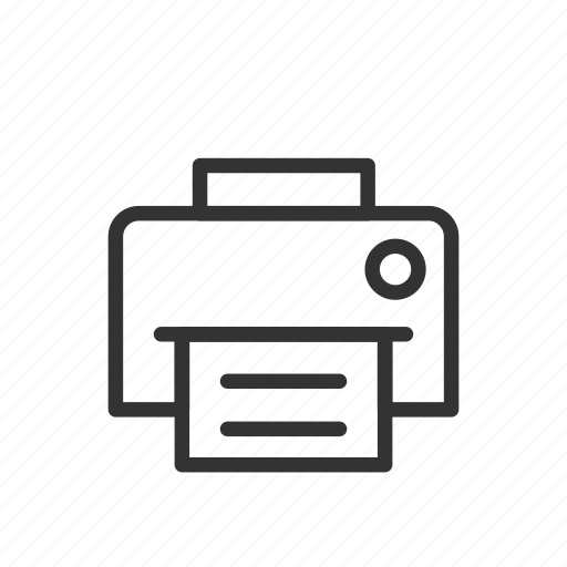 data, document, minimalist, print, printing, ui, ux icon
