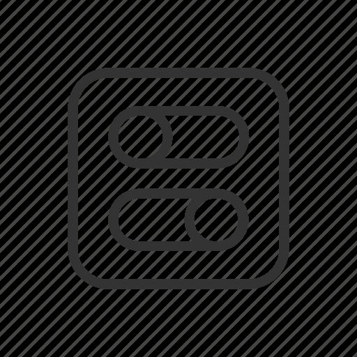 bar, control, interface, minimalist, setup, ui, ux icon