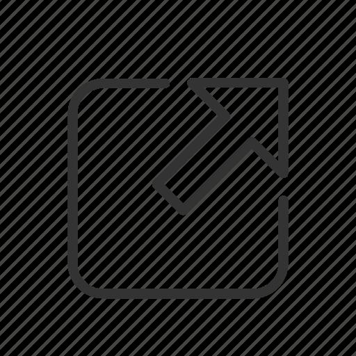 forward, interface, minimalist, send, share, ui, ux icon