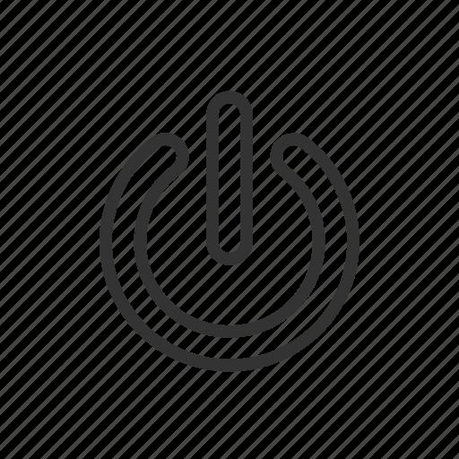 close, log, minimalist, off, shutdown, ui, ux icon