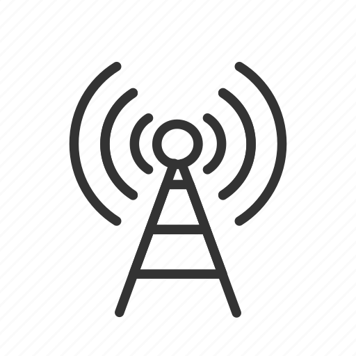 antenna, interface, minimalist, signal, tower, ui, ux icon