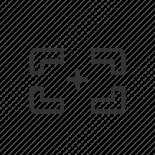 interface, minimalist, scan, scanner, target, ui, ux icon