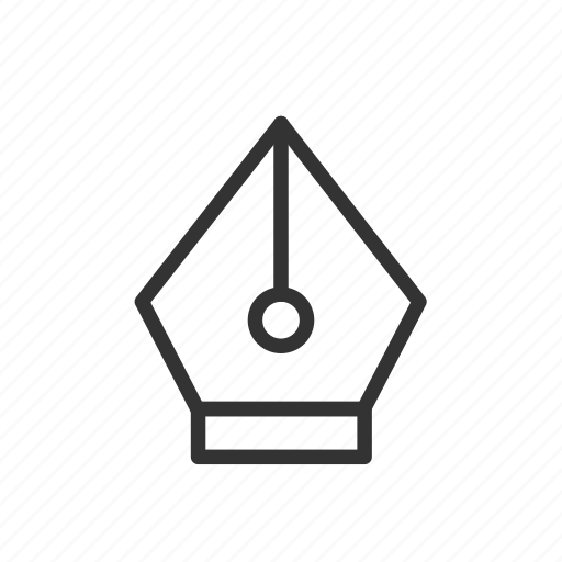 drawing, minimalist, pen, tool, tracing, ui, ux icon