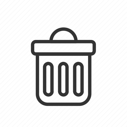 bin, delete, interface, minimalist, trash, ui, ux icon