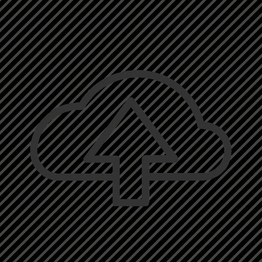 cloud, data, file, minimalist, ui, upload, ux icon