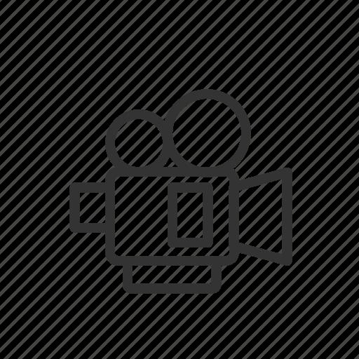 camera, film, minimalist, movie, ui, ux, video icon