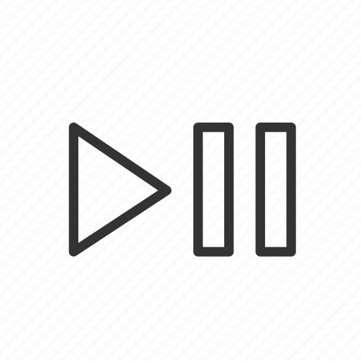 control, minimalist, music, play, ui, ux, video icon