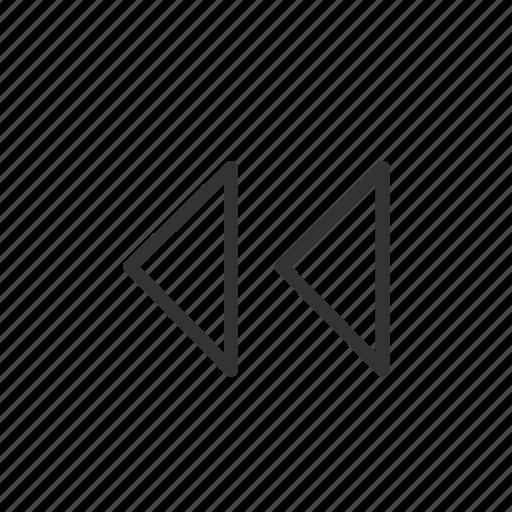 interface, minimalist, music, rewind, ui, ux, video icon