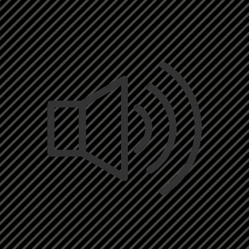 interface, minimalist, sound, speaker, ui, ux, voice icon