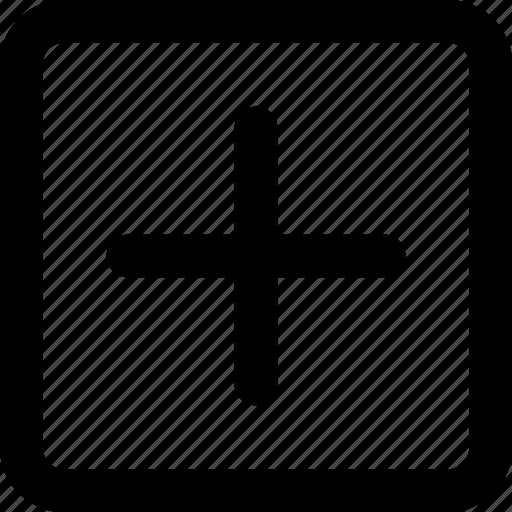 add, create, plus, square icon