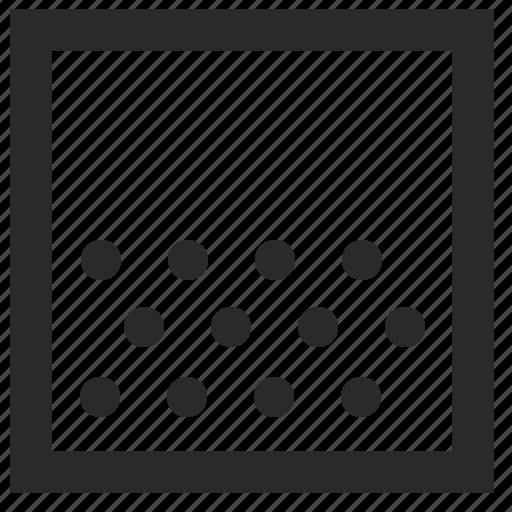 border, figure, fill, half, rounds, square icon