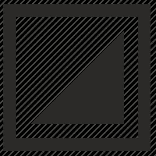border, diagonal, figure, square, triangle icon