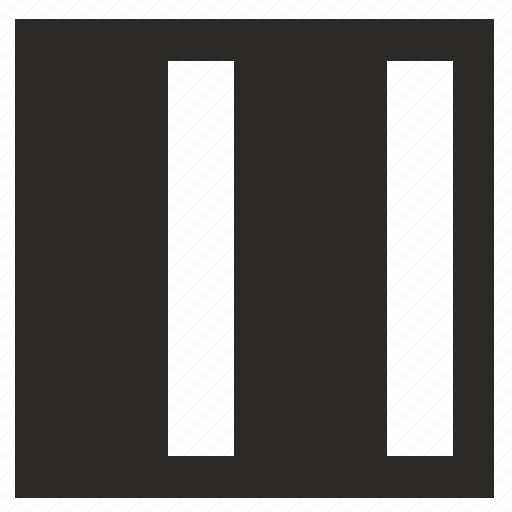 half, picture, square, stripe icon