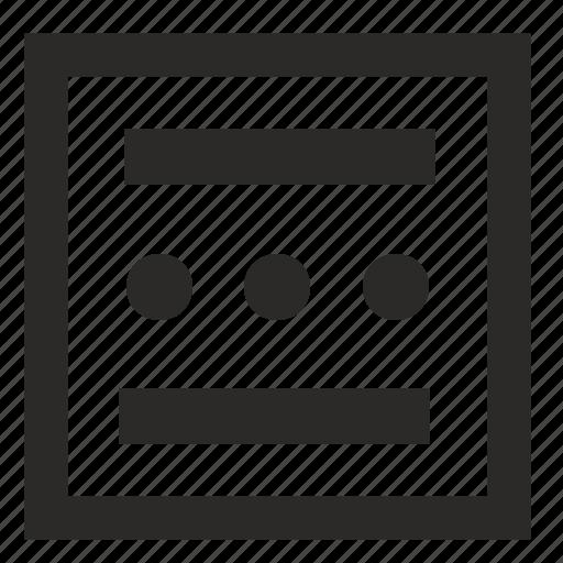 figure, form, lines, square, tile icon