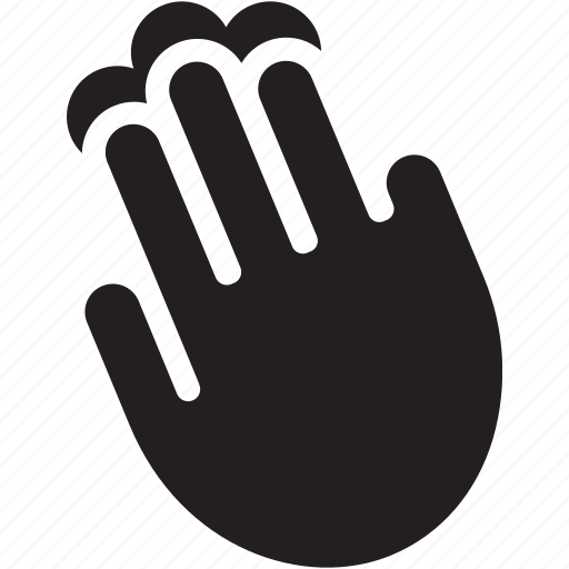 asset, fingers, gesture, hand, scroll icon