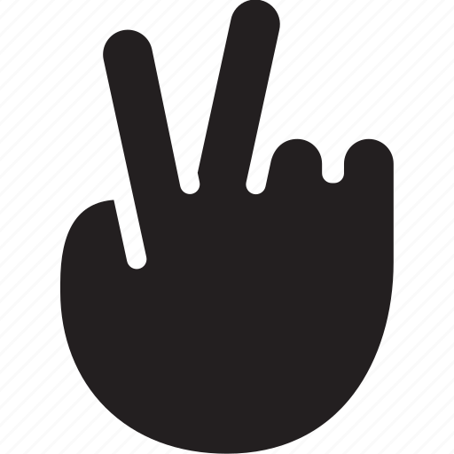 asset, fingers, gesture, hand, victory icon