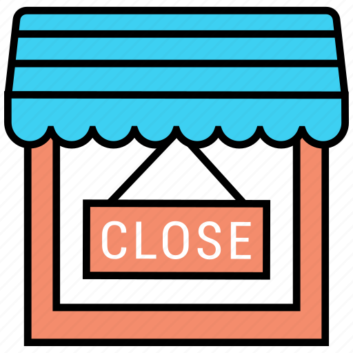 close, shop, shopping, store icon icon