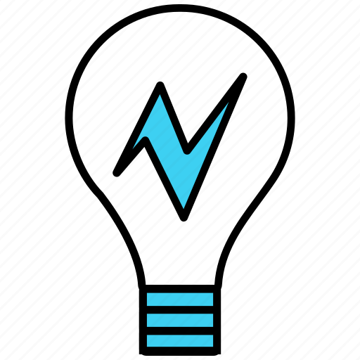 bulb, idea, innovation, invention, lightbulb icon icon