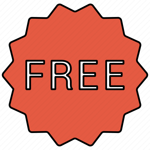 badge, free, label, price, sticker icon