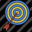 aspiration, darts, goal, target icon