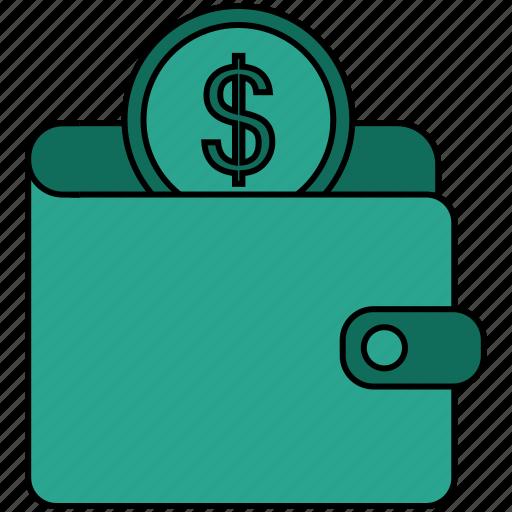 cash, coins, dollar, euro, money, money wallet icon