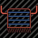 bath, bath towel, hanger, hanging towel, towel, towel ico icon