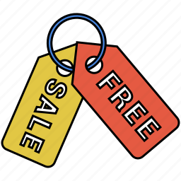 discount, free, sale, shopping, tag icon