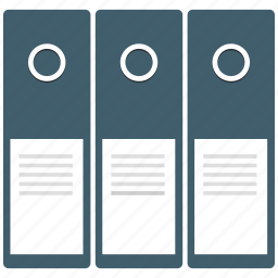 file folders, files, folders, office icon icon