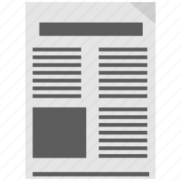 news, news paper, newsletter icon icon