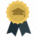 achievement, award, best quality, ribbon icon icon