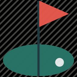flag, game, golf, golf club, sports icon